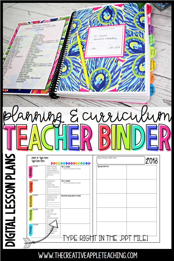 Teacher Planner and Curriculum Binder