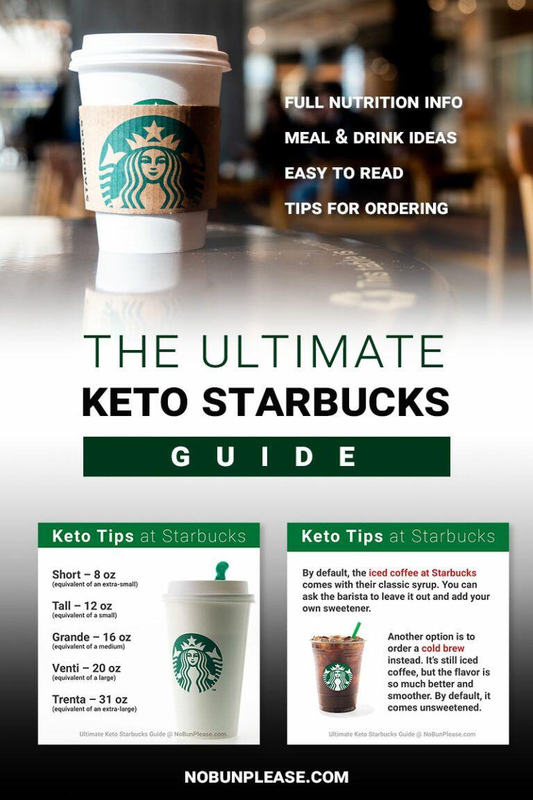 Keto Starbucks Drinks & Meals (Includes Full Macros