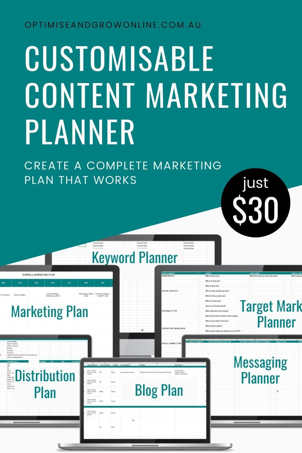 Plan your overall goals, target market, keyword research