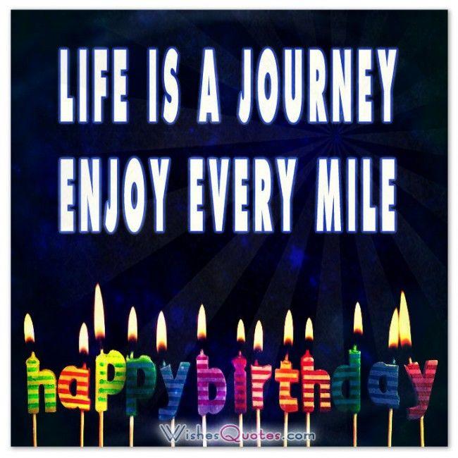Life is a journey. Enjoy every mile. Birthday Card. #birthdaycard