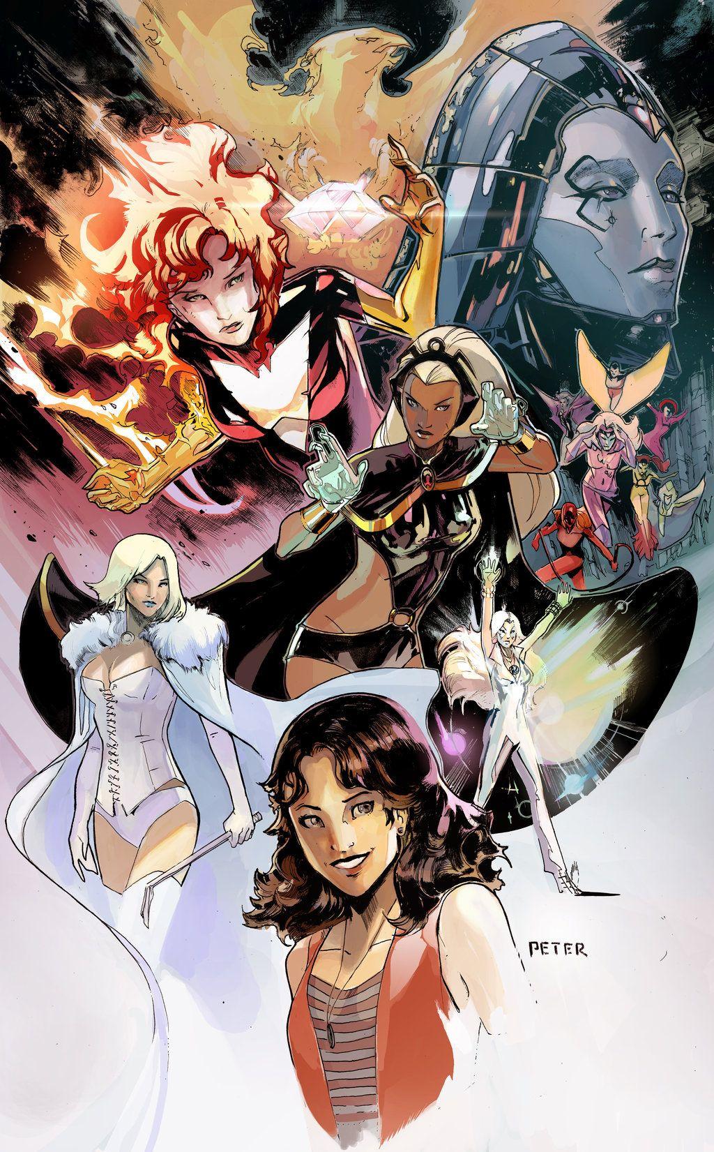 Comic Book Ladies X Women By Peter Nguyen Comic Books Art Marvel Comics Xmen Comics