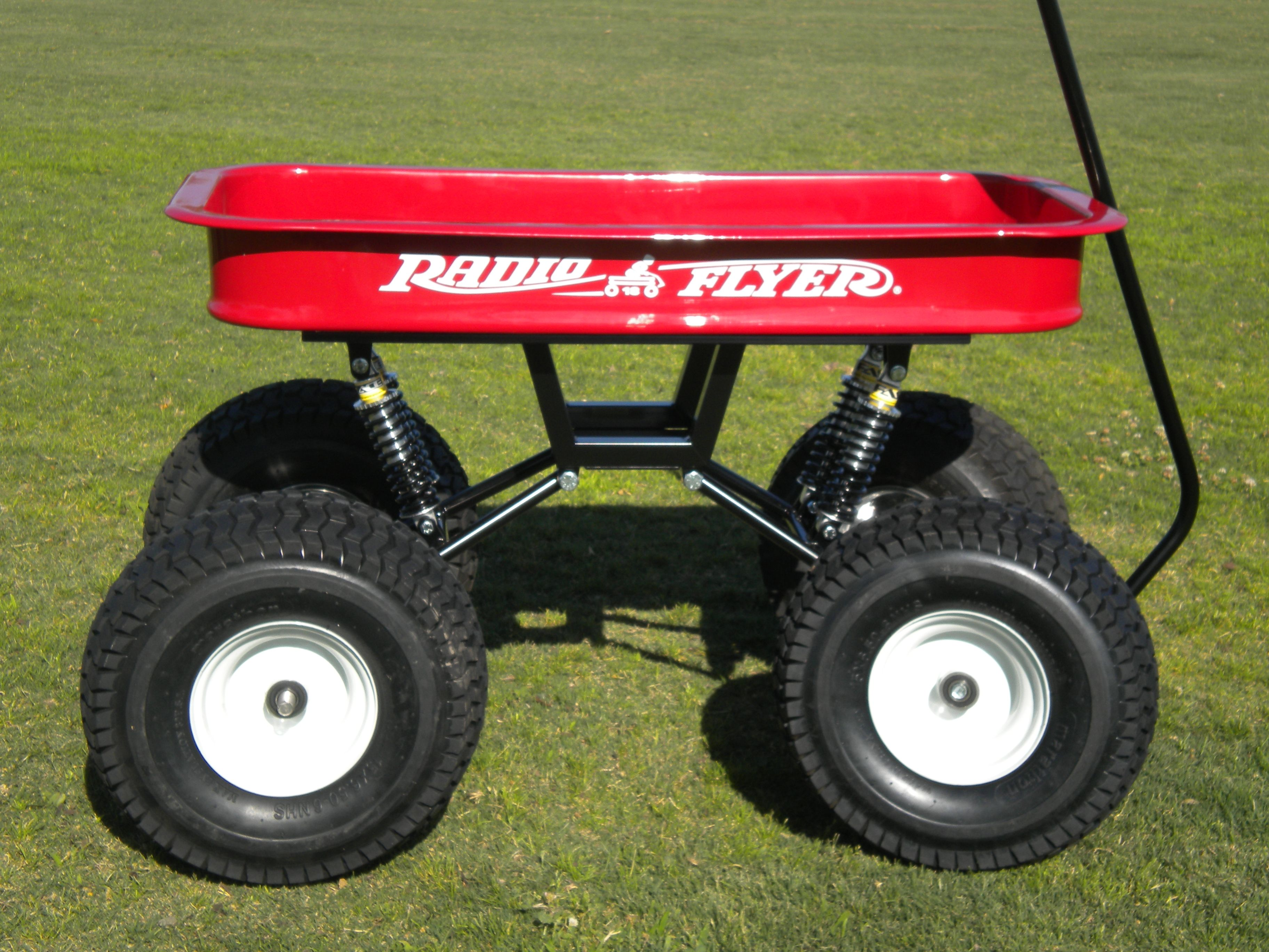 Custom Radio Flyer wagon with Swing-Arm suspension kit