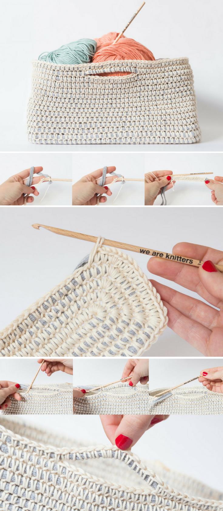 Free pattern: Crochet a cotton basket | Cestas, Cesto y Bolsas ...