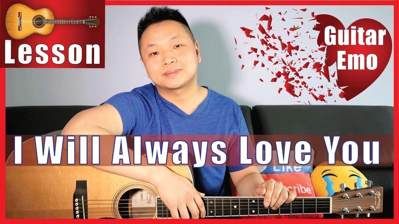 I Will Always Love You Whitney Houston Guitar Tutorial No Capo Guitar Tutorial Guitar Guitar Lessons