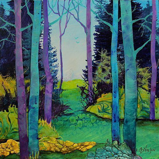Encaustic Landscape pencil colour landscape drawing fantasy landscape artists
