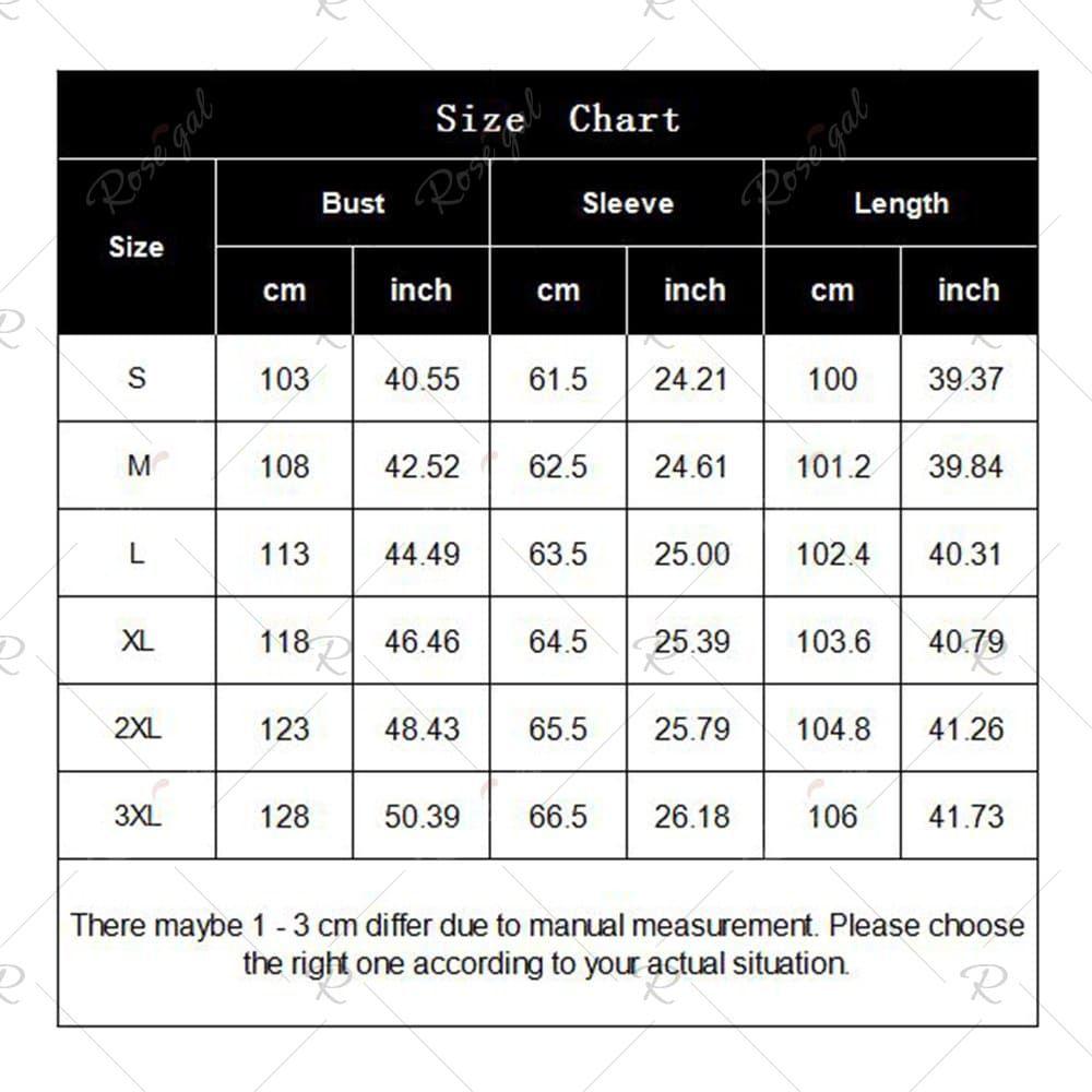 rosegal   Rosegal, Sleeve length, Size chart