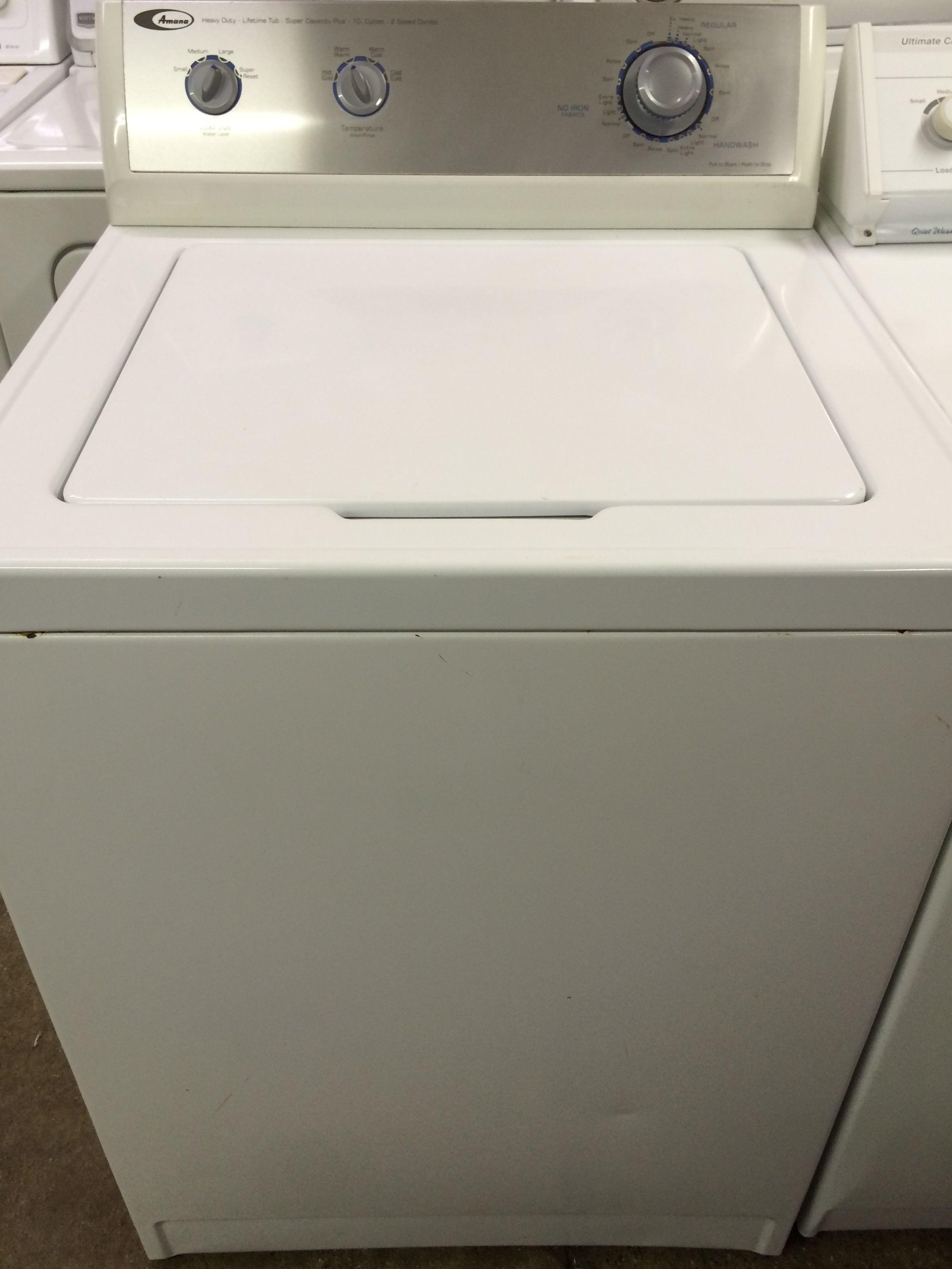 Amana Topload Washer 299 Large Tub Capacity Washers