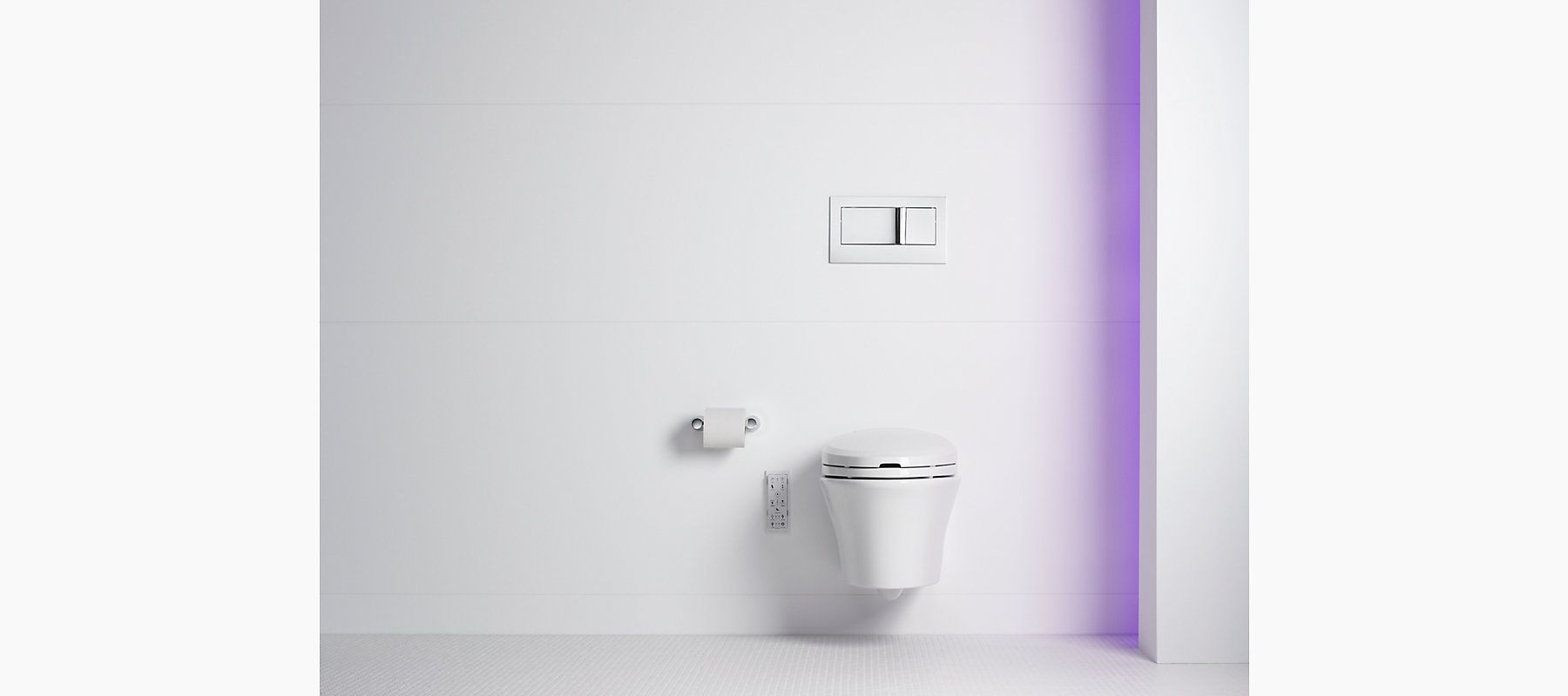 Miraculous Veil Wall Hung Toilet With C3 Bidet Seat K 6304 Kohler Gmtry Best Dining Table And Chair Ideas Images Gmtryco