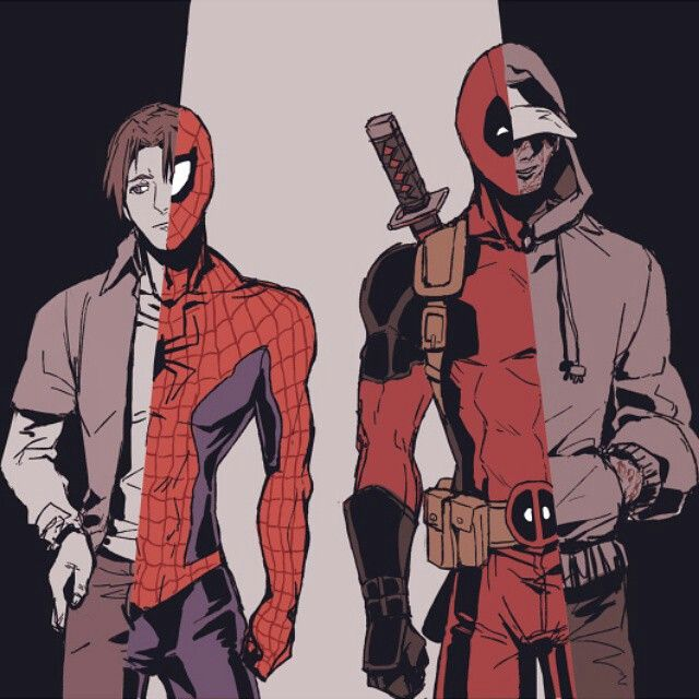 Marvel 39 s peter parker spiderman and wade wilson deadpool marvel pinterest h ros les super - Tony parker dessin anime ...