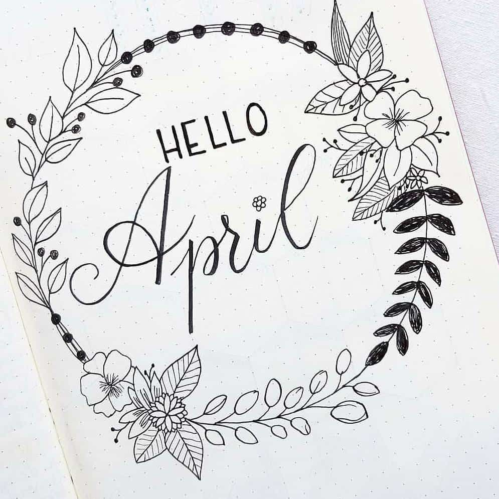 Photo of 15 Wonderful April Bullet Journal Cover Pages to Inspire You