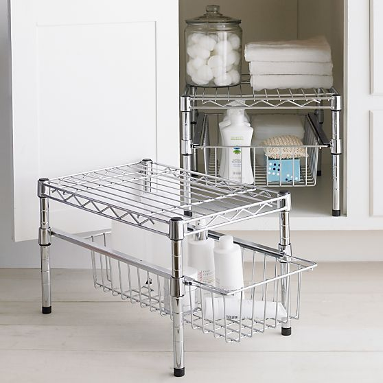 Kitchen And Bath Solutions: Wire Organizer With Height-adjustable Drawer And Shelve