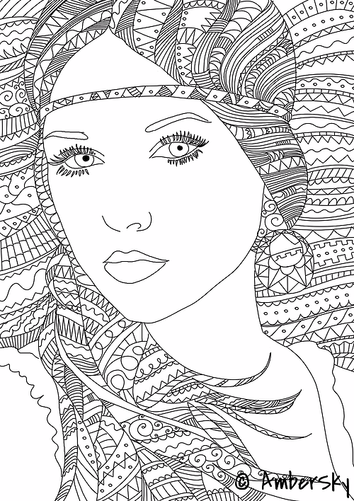 coloring pages adult people - photo#2