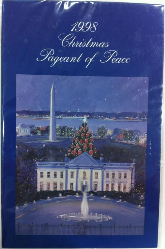 Each year since the first Christmas Proclamation by President Calvin Coolidge in 1923, the White House has been bedecked with holiday cheer in the form of boughs, berries, trees, treats and wonderful Christmas cheer.   The public is invited to view the decorations and a program is issued each year to identify the many artists, artisans, and public support for each public room of the White House.  This program is from 1998.
