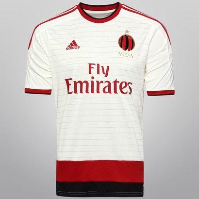 Camisa Adidas Milan Away 14 15 s nº - Branco+Vermelho  e537879b7f782