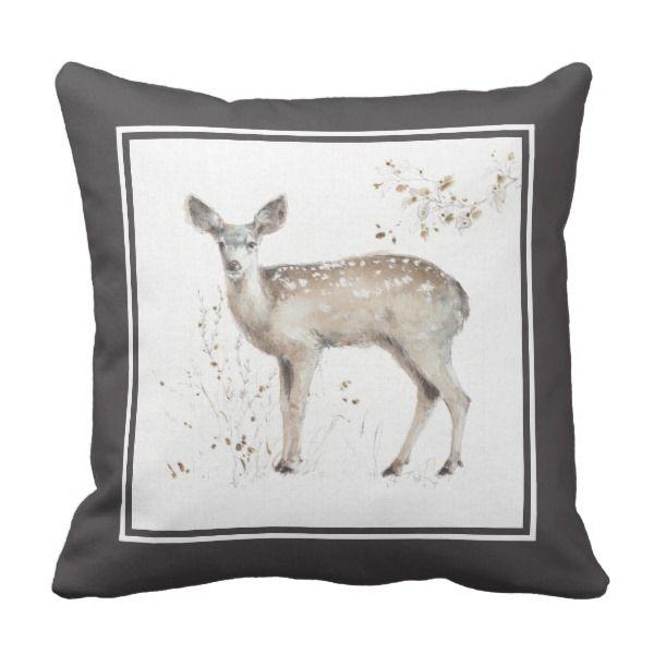 Sentimental Wedding Gift Ideas: A Woodland Walk IX Throw Pillow