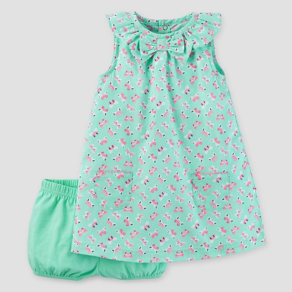 Baby girlsu butterflies dress mint m just one you made by
