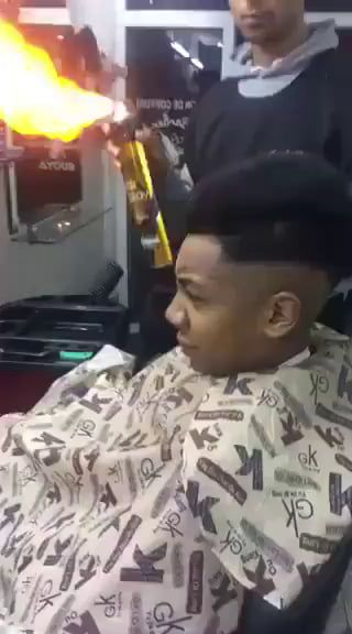 CJ:I want to look like the guy from fantastic 4 Barber: Say no more carl ,