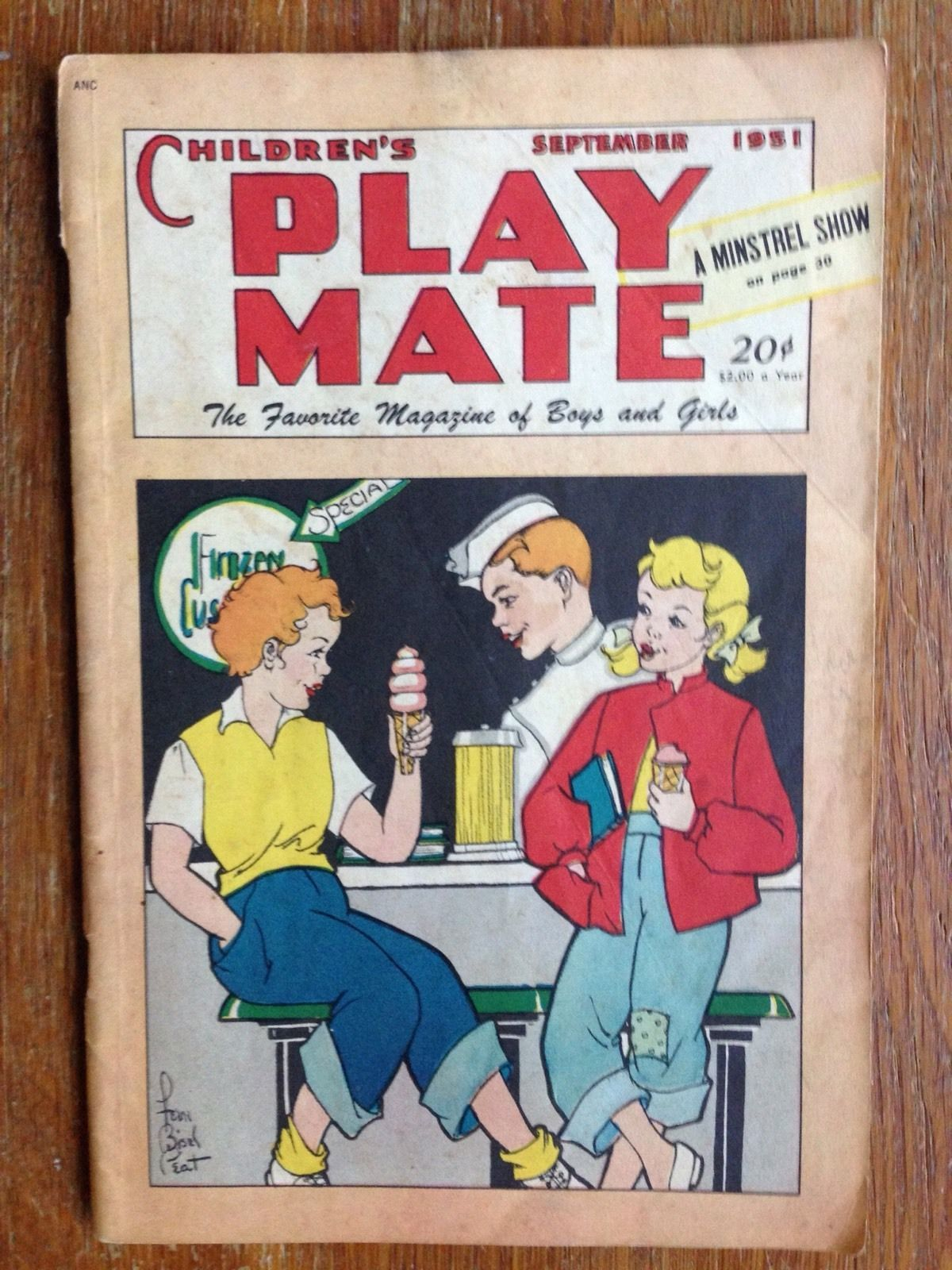 Vintage Children 039 S Play Mate Magazine September 1951 Ebay Kids Playing Vintage Children Childrens