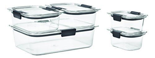 Rubbermaid Brilliance Food Storage Container Set 22 Piece Clear Amazon Rubbermaid Brilliance Food Storage Container 10Piece
