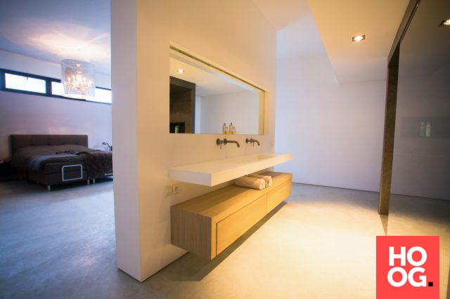 Badkamer inrichting met badkamer meubel | badkamer ideeën | design ...