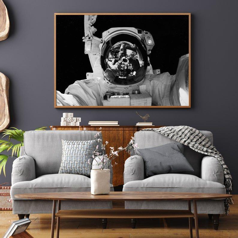 Black And White Space Wall Art Nasa Wall Art Astronaut Etsy Space Wall Art Space Poster Art Wall Kids