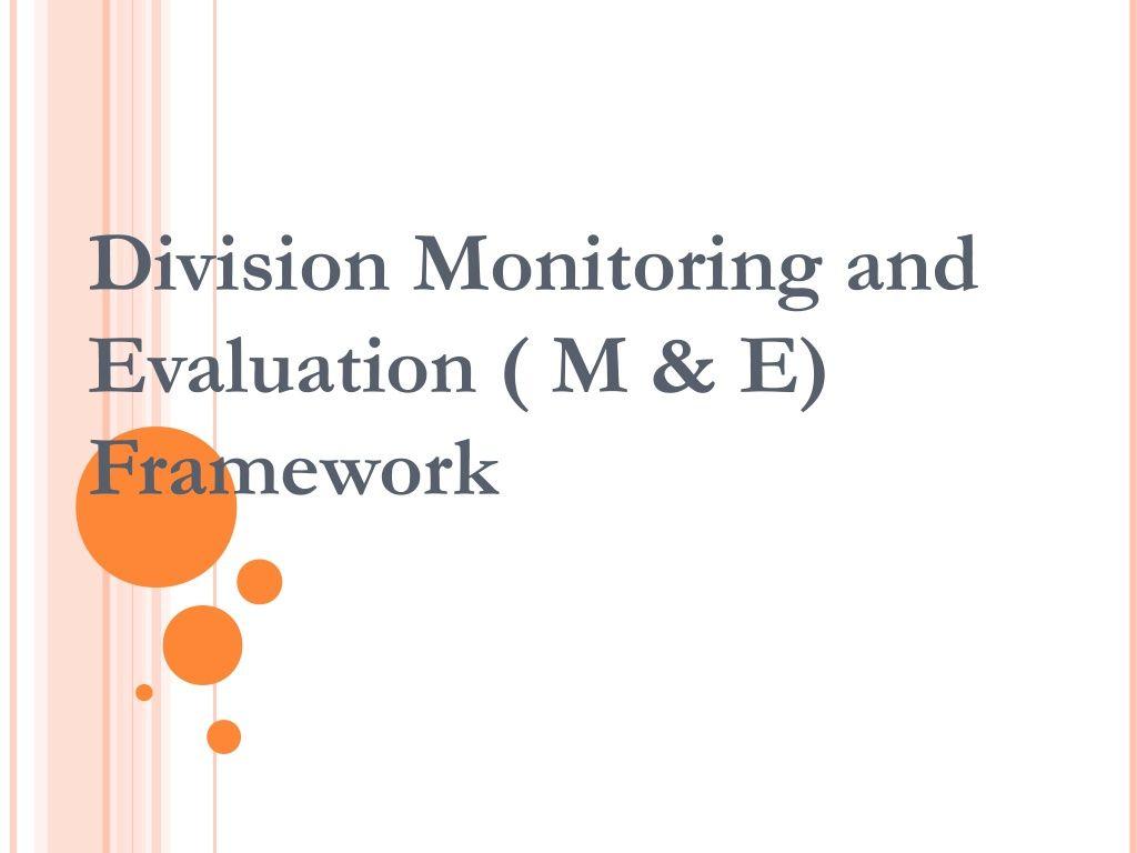 Monitoring And Evaluation Framework By Dr Joy Kenneth Sala Biasong Via Slideshare