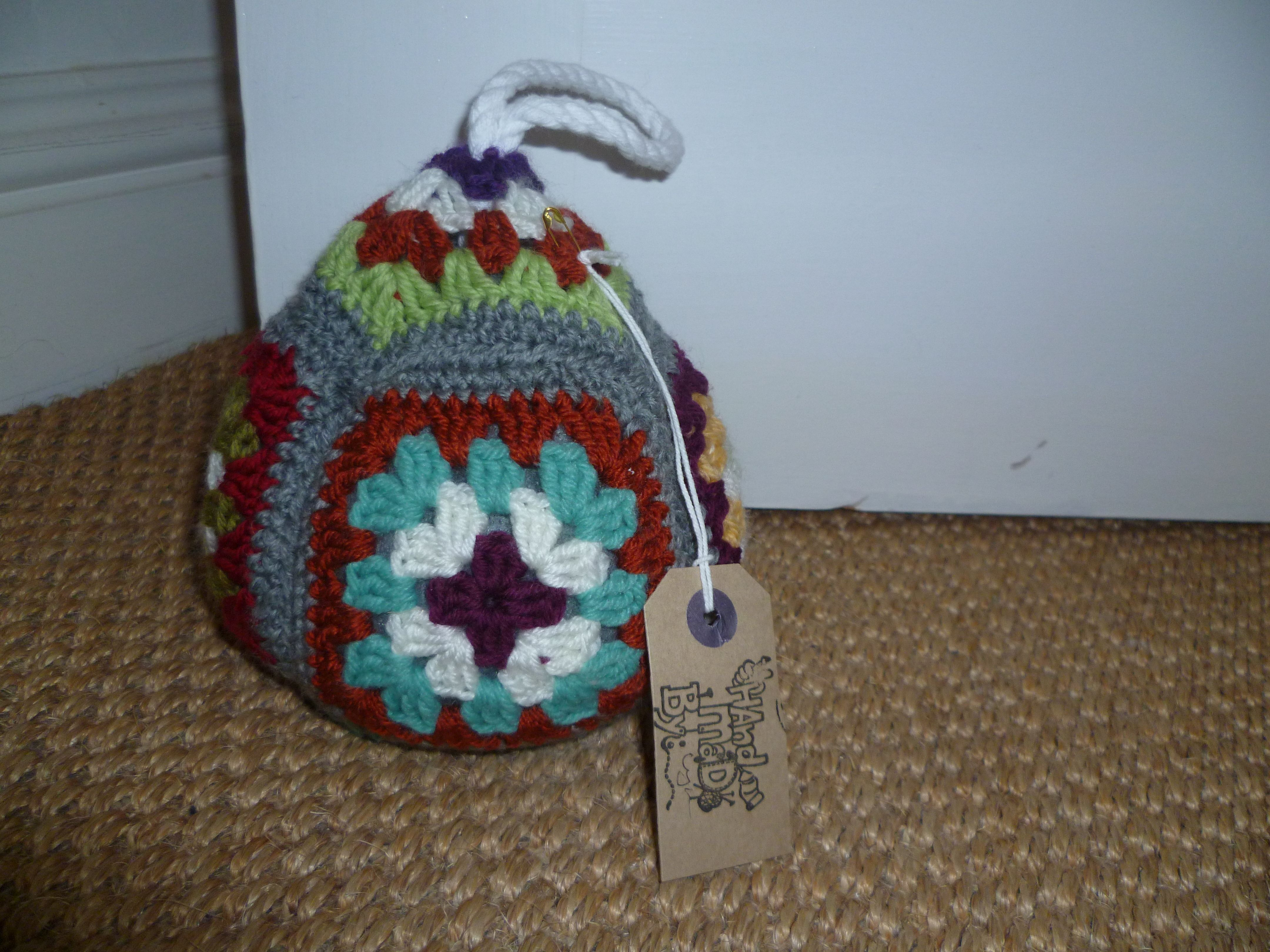 colourful crochet door stop :0 | crochet door stops | Pinterest