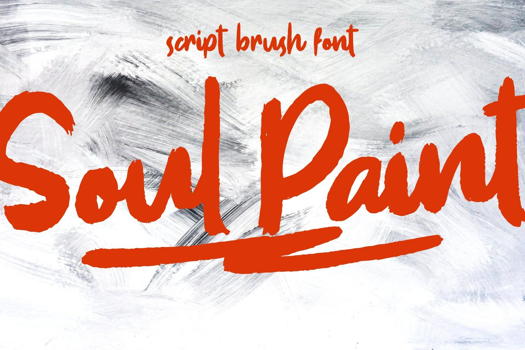 **Introducing SOUL PAINT semi script brush font with dry