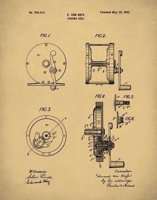 Patent Print, Fishing Reel Poster, Fishing Reel Patent, Fishing Reel - best of barefoot investor blueprint promo code