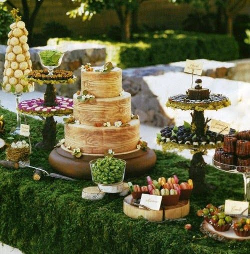Country Woodlands / Enchanted Forest Wedding DESSERT TABLE