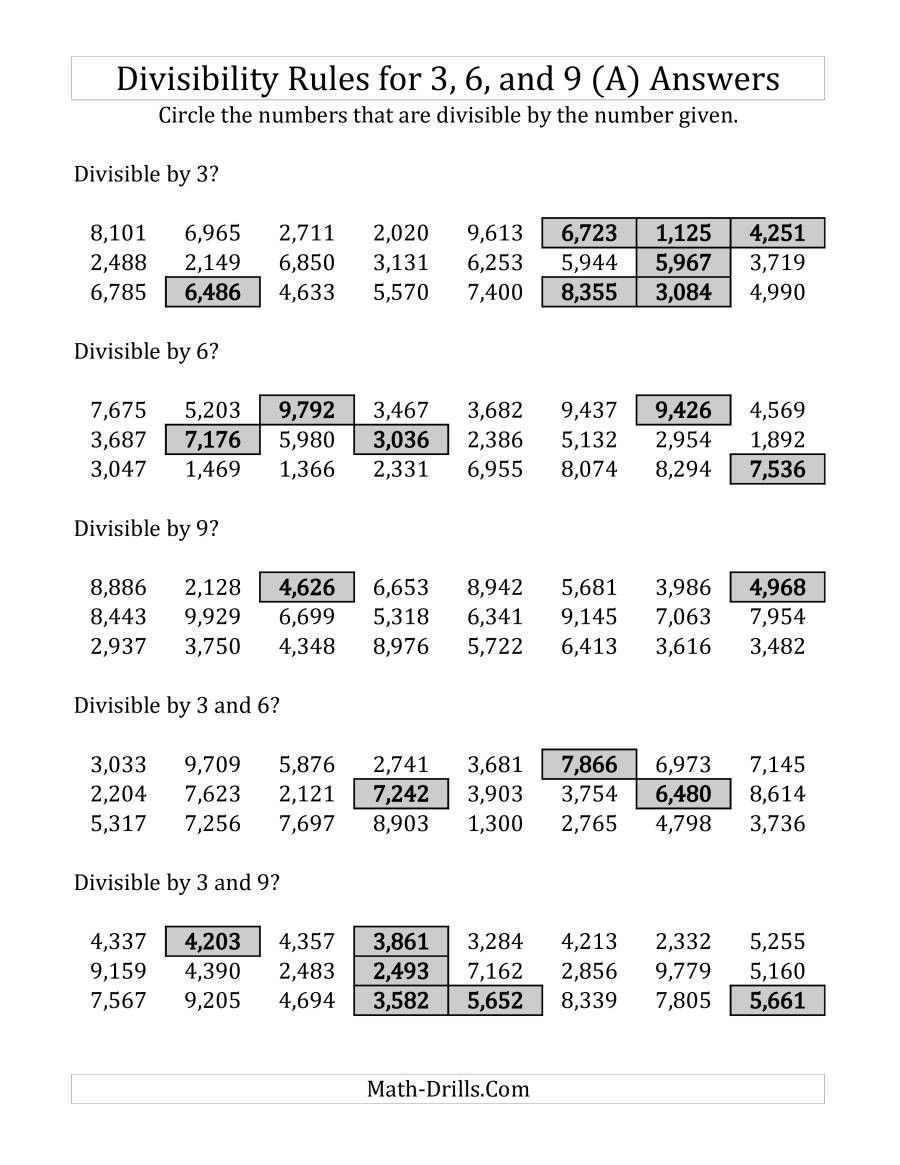 medium resolution of Divisibility Rules Worksheet 6th Grade   Divisibility rules