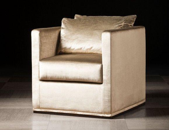 Lusso Victoria Luxury Italian Lounge Upholstered in Gold Velvet