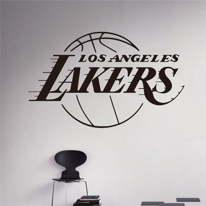 Home Decoration L.A. Lakers NBA American Professional Basketball Team Logo  Wall Stickers Living Room Bedroom Den