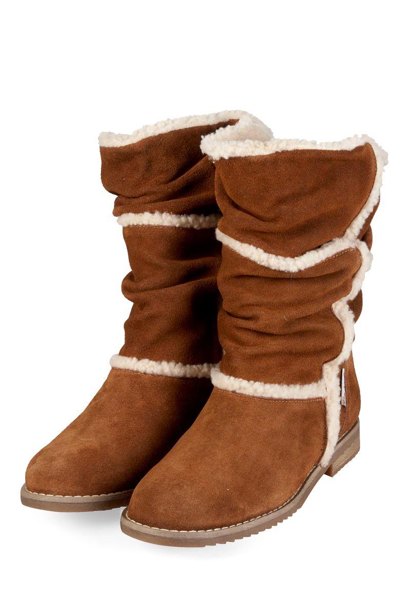 Venda Little Marcel Calçado / 7802 / Adulto / Boots e Botas / Boots em Camurça Conhaque e Cru. De 110€ por 45€.