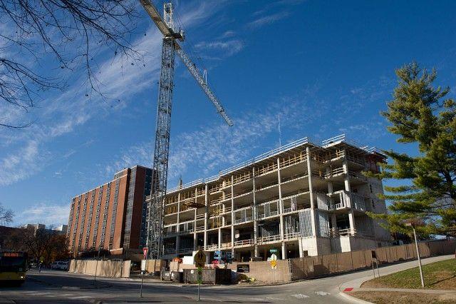 University of Iowa, Iowa City IA. Residence Hall under construction
