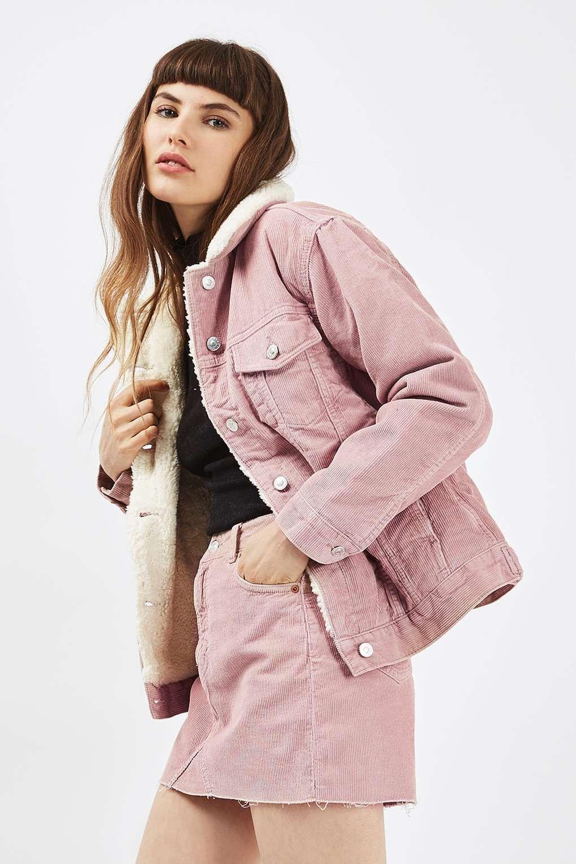MOTO Cord Borg Western Jacket - Denim - Clothing - Topshop | My ...
