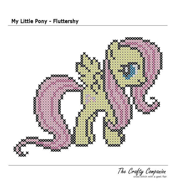 My Little Pony - Fluttershy Inspired PDF Cross Stitch Pattern ...