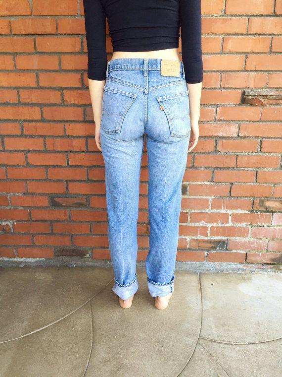 6d66144b Orange Tab LEVIS 505 Jeans 28 Waist Vintage Levis, Jeans Size, High Waist  Jeans