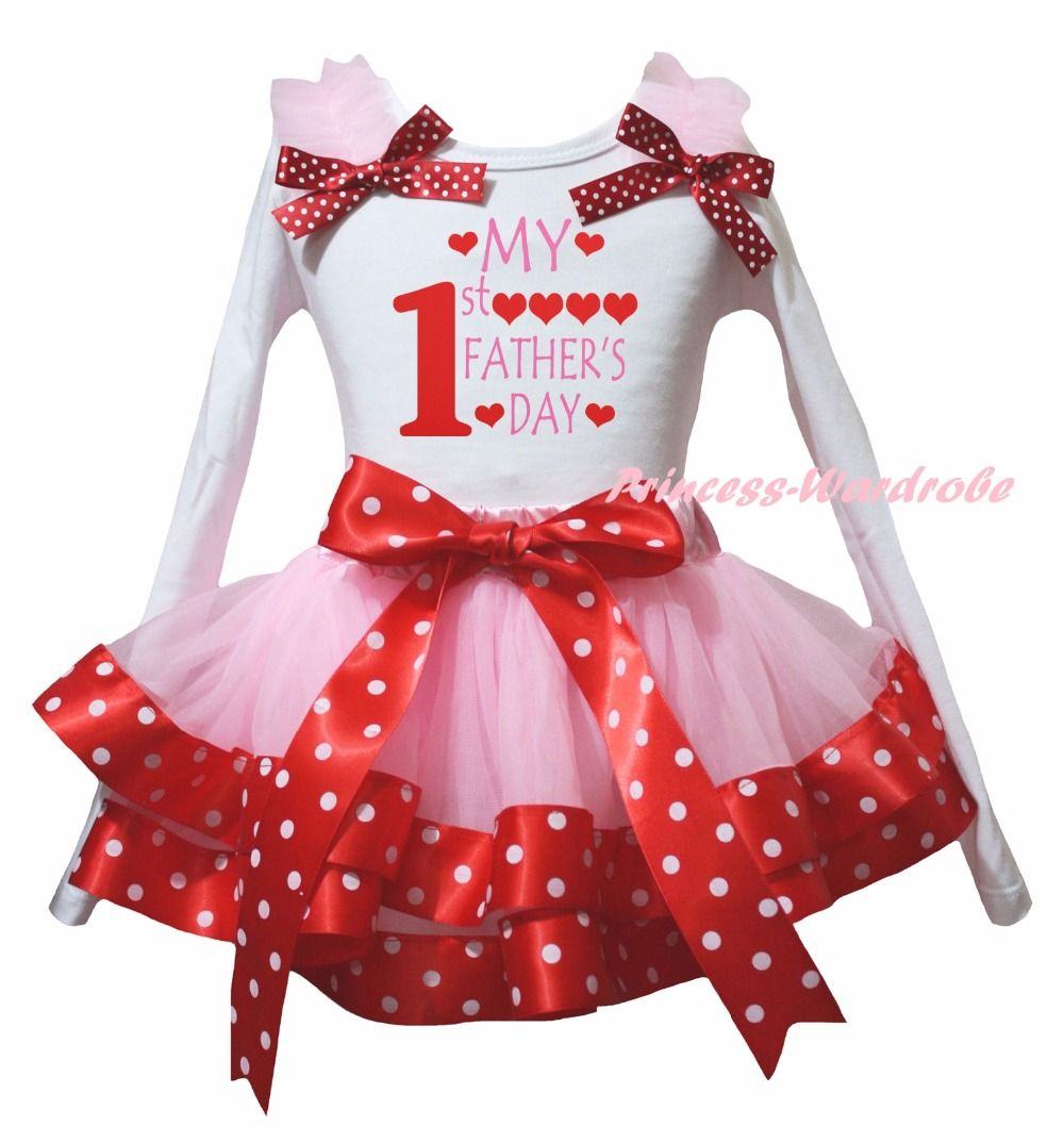 Petitebella My 3rd Birthday White L//s Shirt Hot Pink Hearts Petal Skirt Nb-8y