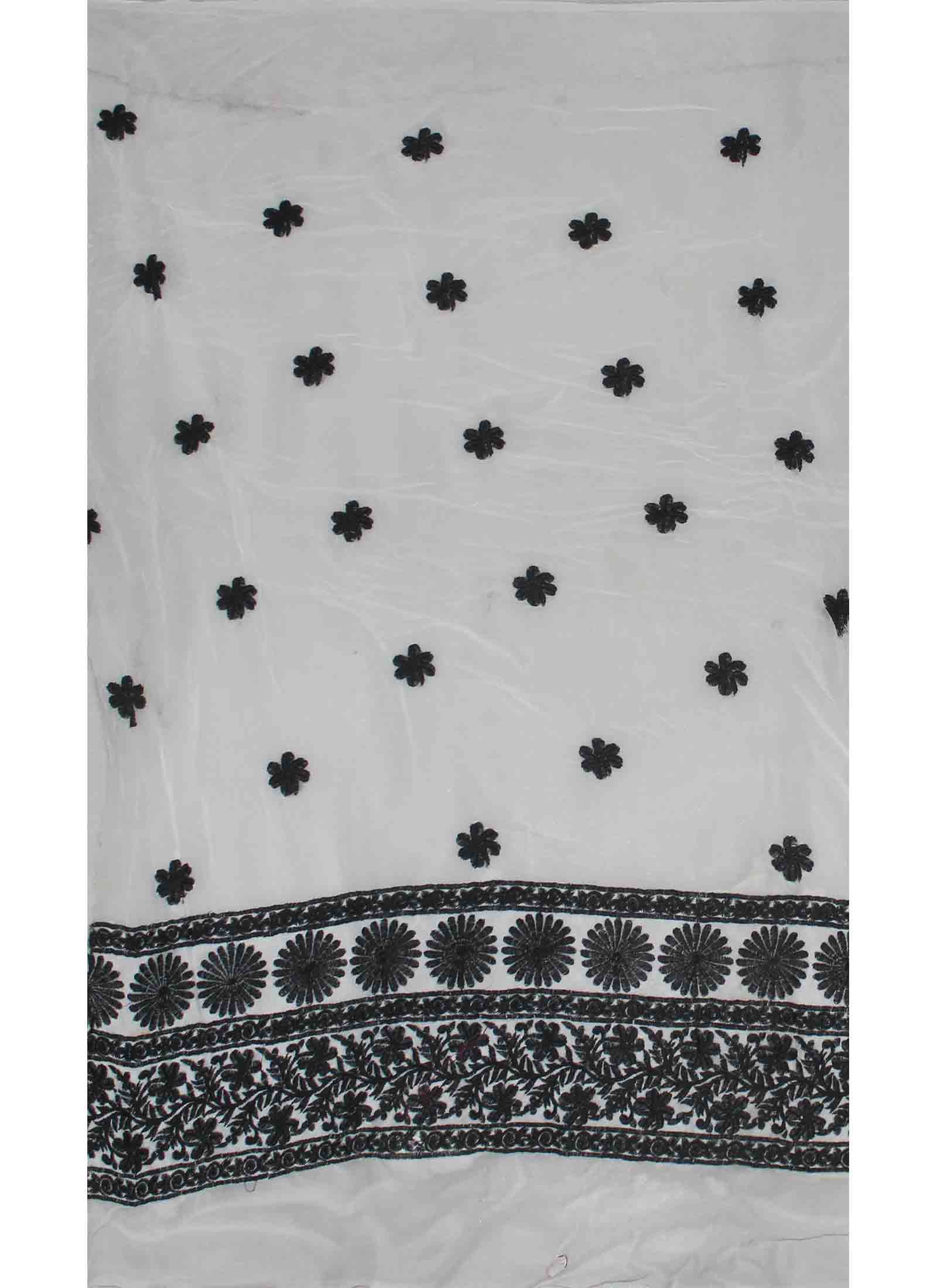 White embroidery georgette fabric pinterest georgette fabric