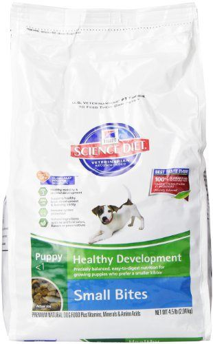Hill S Science Diet Puppy Healthy Development Small Bites Dry Dog Food 4 5 Pound Bag Dry Dog Food Science Diet Dog Food Recipes