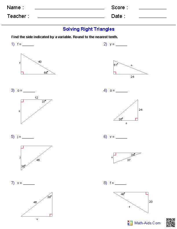 Solving Right Triangles Worksheets Scientificmethod Scientific Method Problem Solving In 2020 Geometry Worksheets Trigonometry Worksheets Triangle Worksheet