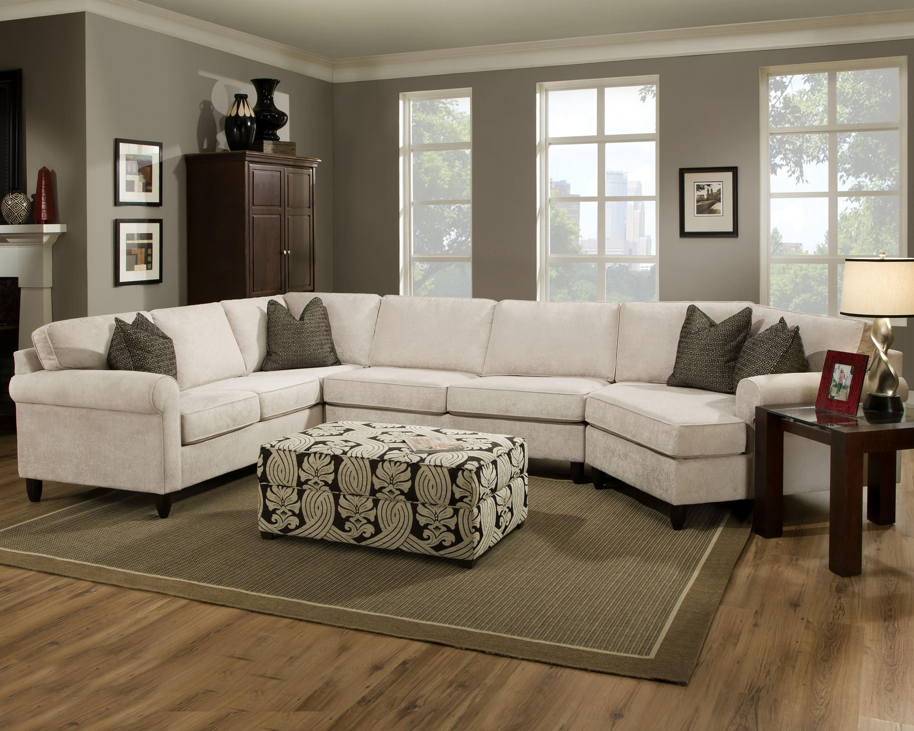 Fray Casual Sectional With Rolled Sock Arms By Bauhaus At Ahfa Sectional Sofa Living Room Sectional Sectional Sofa Couch #soletren #ash #living #room #set