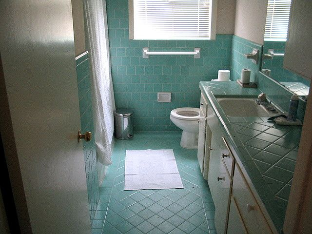 Blue Bathroom Blue Bathroom Tile Retro Bathrooms Bathroom Inspiration Decor