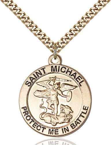 St michael pendant 14 karat gold filled pinterest st michael st michael pendant gold filled by bliss catholic shopping aloadofball Images