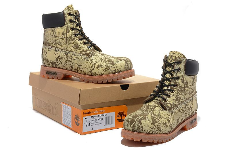 Timberland Authentic 6 Inch Zoo Boots Tan Black For Men
