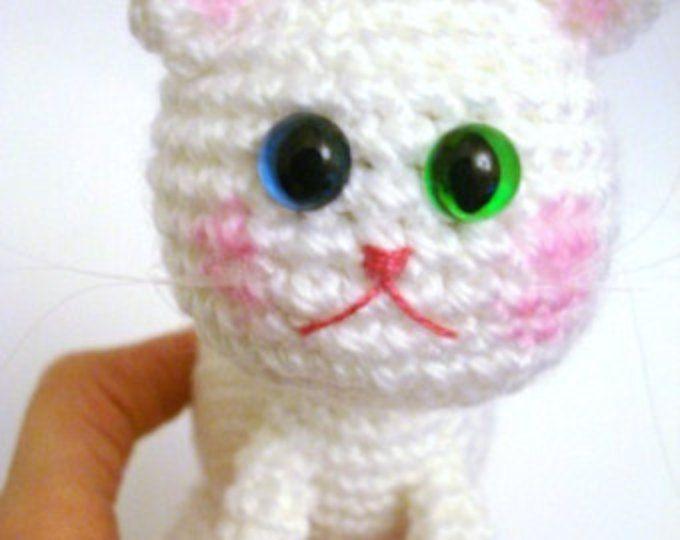 Pattern, Amigurumi Pattern, Amigurumi Cat Pattern, Crochet Kitten, Amigurumi Crochet Kitty Pattern, Tutorial