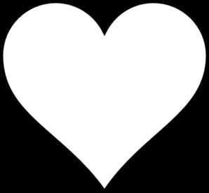 Black Outline Heart Clip Art Heart Clip Art Heart Coloring Pages Heart Outline