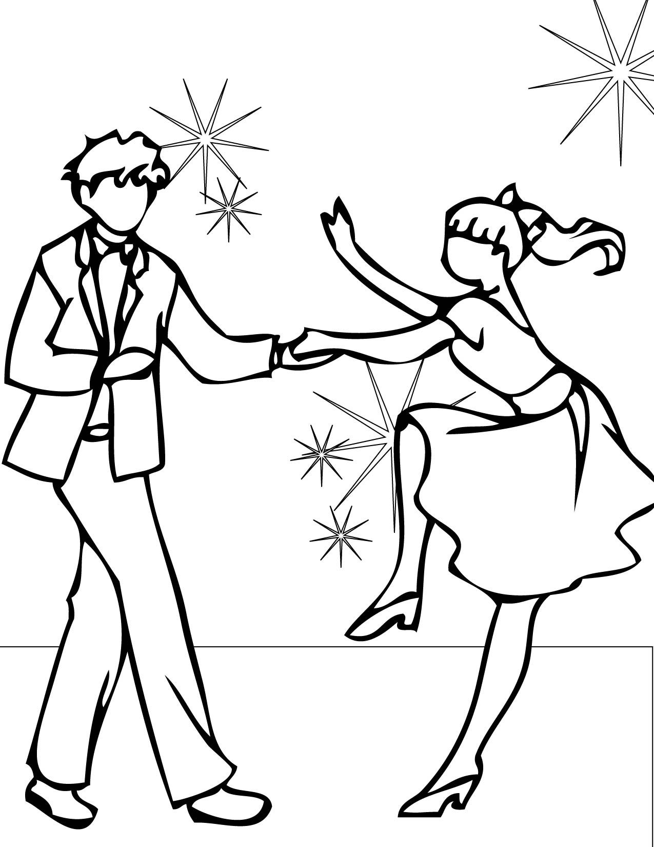 Great Dance Coloring Pages 45 On Free Coloring Book With