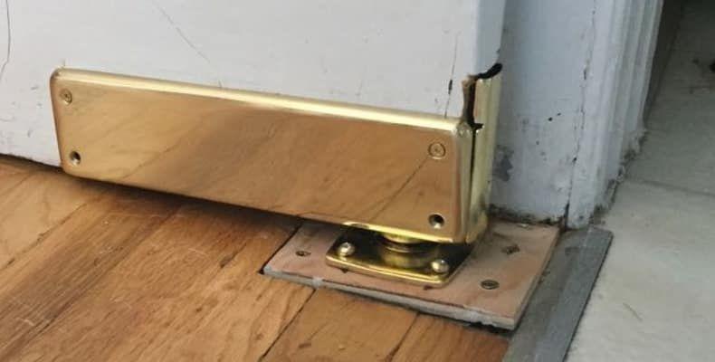 Heavy Duty Swinging Door Floor Hinge With Solid Brass Cover Plates In 2020 Swinging Doors Kitchen Swinging Doors Make A Door